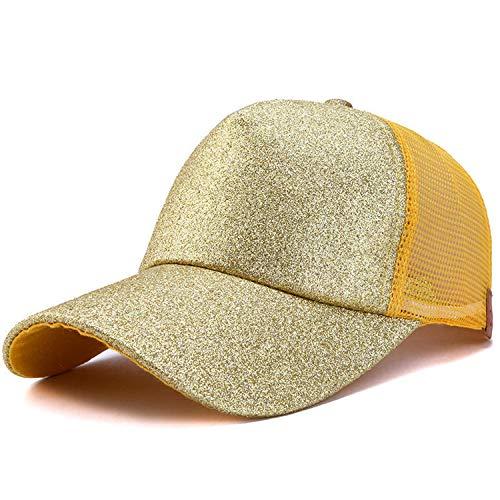 SINXE] 2019 Fashion Ponytail Baseball Cap Women Summer Cap with Mesh Gorra Dad Hats Women's Cap Light Yellow