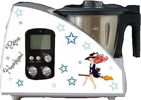 Robot de cocina pegatinas Sexy HEXI Azul para Monsieur Cuisine: Amazon.es