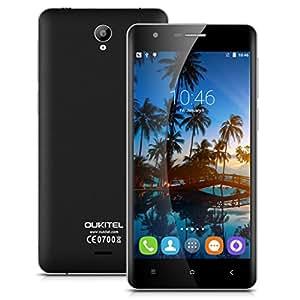 "Oukitel K4000 Lte 4G - Smartphone Movil Libre Android (5.0"" Ips Hd, 64 Bits Quad Core, 2G Ram 16G Rom, 4000mAh, HotKnot, Otg, Dual Sim, Smart Wake, Air Gesture), Negro"
