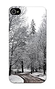 Design High Impact Dirt/shock Proof Case Cover For Iphone 5/5s (landscapes Nature Winter Snow Trees Forest Roads )