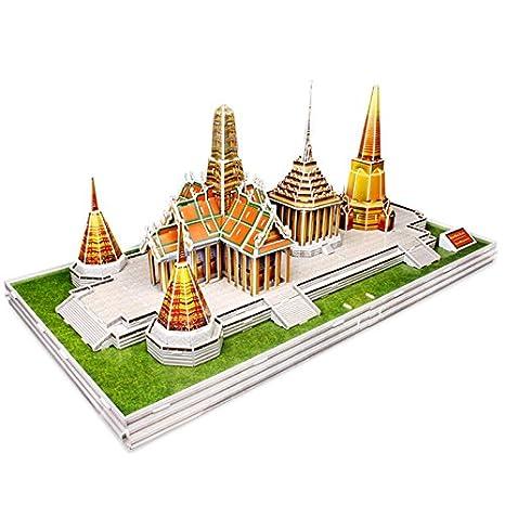 3D Puzzles 3D Puzzle Wat Phra Kaew Thailand Cubic Fun Tempel Bangkok Buddhismus Buddha