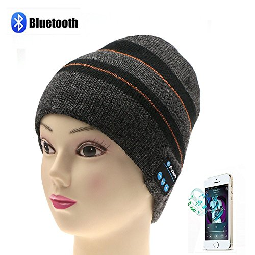 - Bluetooth Wireless Music Beanie Hat Women Men Winter Knitted Hat Trendy Cap with Stereo Speaker Headphones Headset for Ourdoor Sports Running Skiing, Built-in Mic,Dark Grey