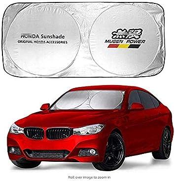 Ephven 150X70cm Car Window Sun Shade Car Windshield Visor Cover Block Front Window Sunshade UV Protect Car Window Film fit mazda