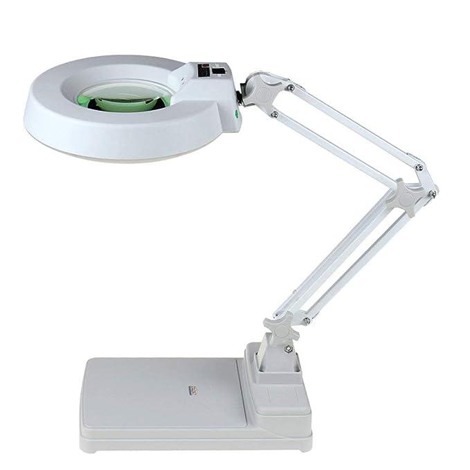 DDOQ Lupa Lupa de Escritorio HD con luz LED 10x Ancianos ...
