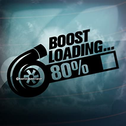 Turbo Boost Loading Auto Decal Adhesivo Pegatina Exterior De