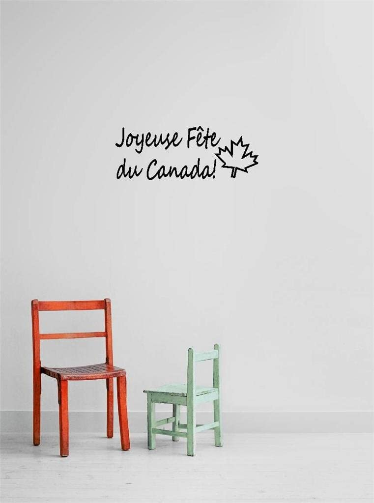 Amazon Com Decal Vinyl Wall Sticker Joyeuse Fete Du Canada Quote Home Living Room Bedroom Decor Discounted Sale Item 22 Colors Available Size 8 Inches X 20 Inches Kitchen Dining