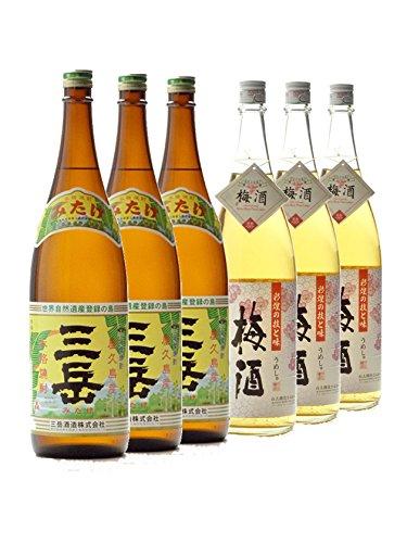 三岳さつまの梅酒1800ml 6本セット 芋焼酎と梅酒 鹿児島 B07FLBWYNG