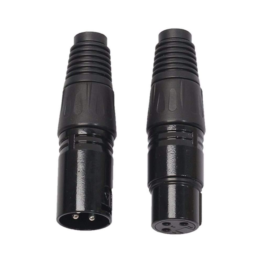 Cable Length: Other Computer Cables 1 Pair 3 Pins XLR Audio Cable Connector MIC Male Plug Female Jack Microphone Cable Connector MIC Adapter Black Sukvas