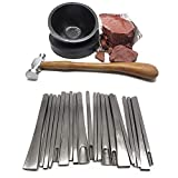 5'' Bowl Pad, Red Pitch & Chasing Hammer |Silversmith | Goldsmith | Metalsmith | Tool Set