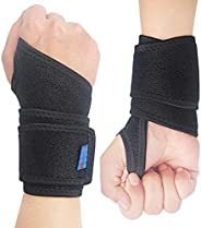 2Pack 2020 New Version Profession Wrist Support Brace, Adjustable Wrist Strap Reversible Wrist Brace for Sport