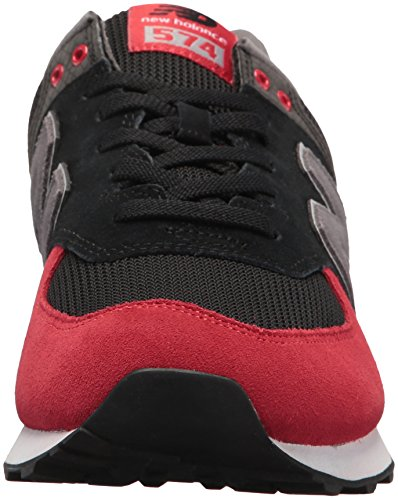 New Balance Men's 574 Serpent Luxe Sneaker Black With Team Red amazing price cheap price big sale cheap online YJ8K3hA