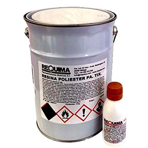 Ré sine de en polyester 5 kg + Catalyseur 100 GRS Pack Riegoprofesional