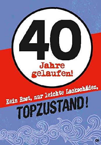 Musikkarten Mit Sound Uberraschung 008b Zum 40 Geburtstag Amazon