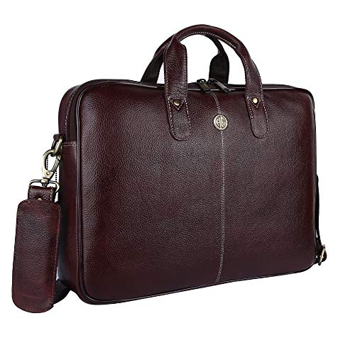 Hammonds Flycatcher Original Bombay Brown Leather 15.6 inch Laptop Messenger Bag|Padded Laptop Compartment|Office Bag (L…