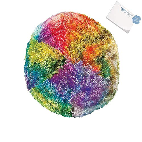 Bargain World Plush Tie-Dye Gumball Pillow (With Sticky Notes)