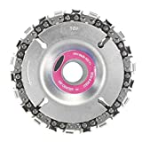 4 Inch Grinder Disc and Labcelot 22 Tooth Carving Saw Blade Set For 100/115 mm Angle Grinder 5/8 Inch Center Hole