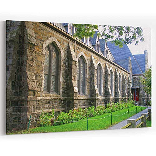 (Actorstion Harvard Square Canvas Prints Wall Art Modern Home Decor Stretched and Framed Ready to Hang)