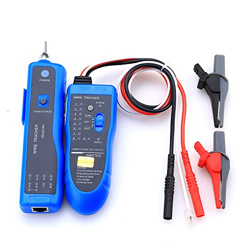 NF-889 Multifunctional Test Cable Detector RJ11 RJ45 Wire Tone Generator Network Lan Cable Checker Tracker Tester Tool (Tone Lan Generator)