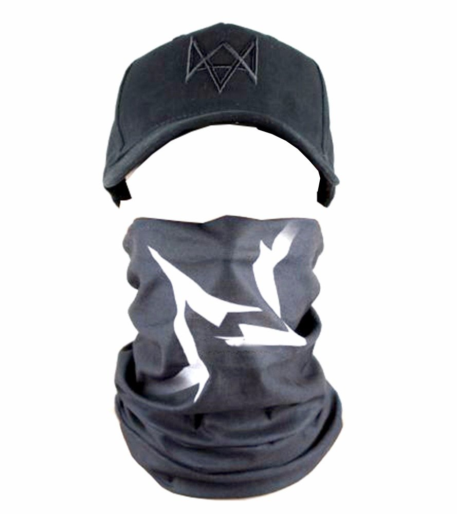 Oem Men's Watch Dogs Face Mask One Size Black by OEM