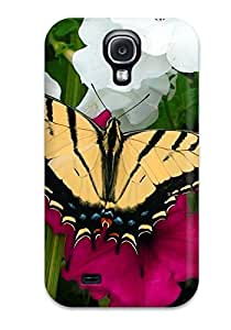 Durable Defender Case For Galaxy S4 Tpu Cover(butterfly)