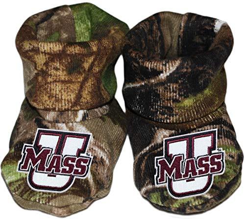 University of Massachusetts Amherst UMass Power U Newborn Baby Bootie Sock ()