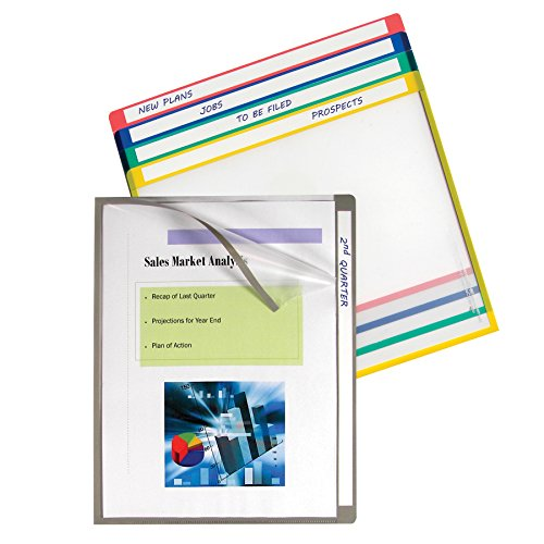 C-Line Write-On Project Folders, Heavyweight Poly, Assorted Colors, 8.5 x 11 Inches, 25 per Box ()