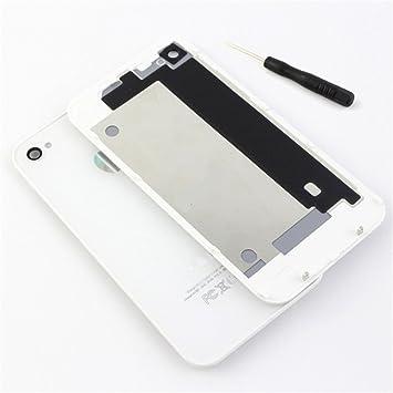 Panel trasero de repuesto de alta calidad y acabado brillante TAPA DE BATERÍA BACK COVER CRISTAL Color blanco For iPhone 4S Battery Back Cover +blanco