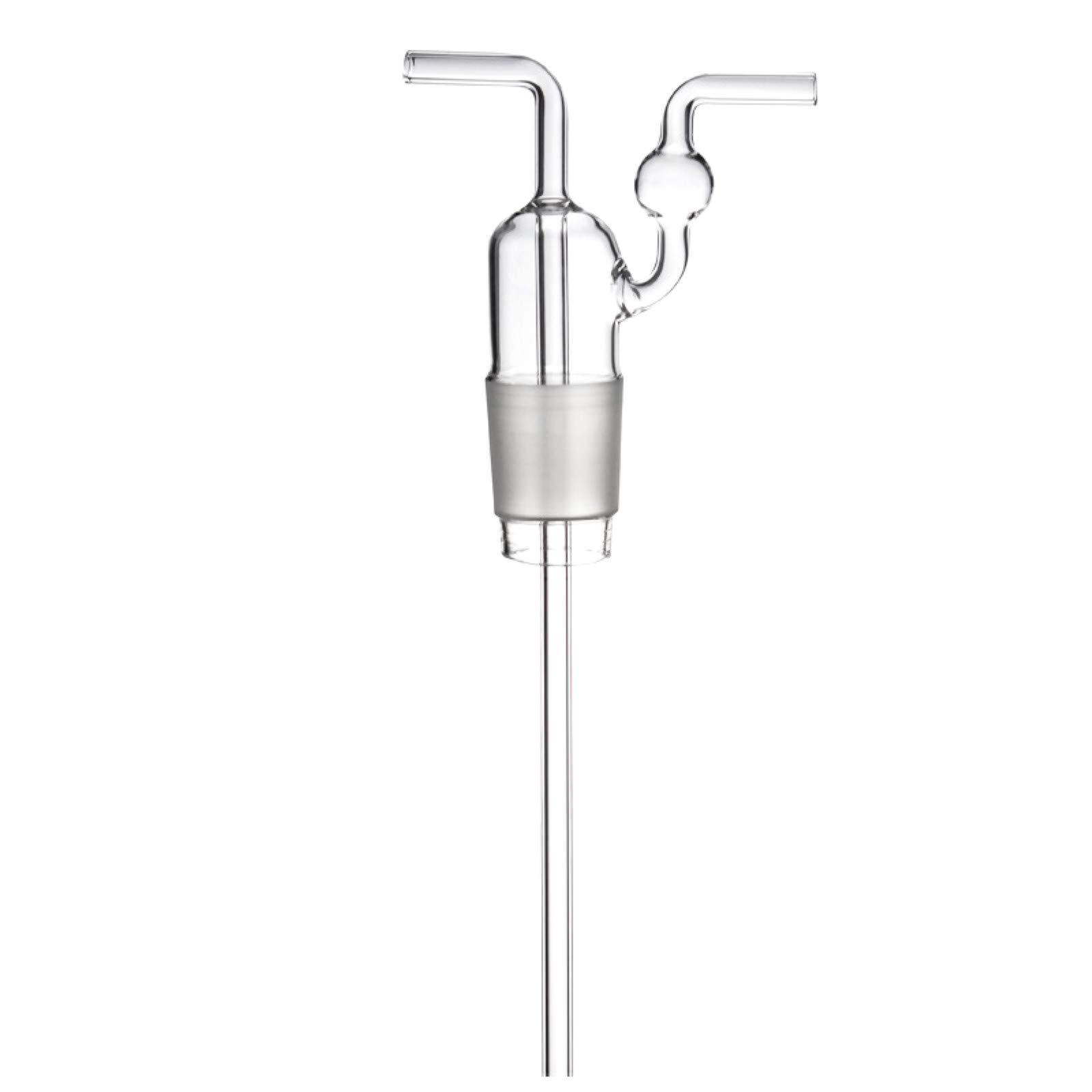 Deschem 500ml Gas Washing Bottle,Straight Tube,Lab Glass Wash-Flask by Deschem