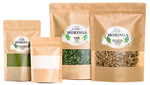 Moringa Oleifera Weight Loss Bundle -100% Organic Certified Moringa Diet Supplements- Burn Fat, Effortless Weight Loss Treatment With Bio Nutriments by Zest Of Haiti Moringa products