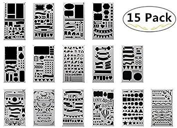 15 Zeichnen Malerei Schablonen Mensur Vorlage Set Magnolora