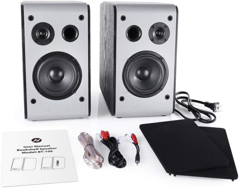 Powered Bluetooth Bookshelf Speakers