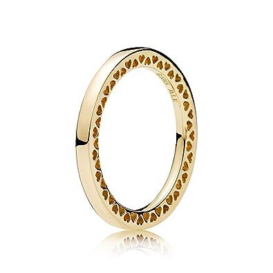 428f0c220 Amazon.com: PANDORA Classic Hearts of PANDORA Ring, 14K Gold 156238 ...