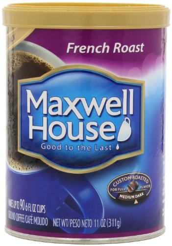 Maxwell House French Roast Ground Coffee (11 oz Canister, Pack of 3)