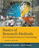 Basics of Research Methods for Criminal Justice and Criminology 4th Edition