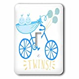 3dRose RinaPiro - Kids - Twins. Boys. Announcement. Cute picture. - Light Switch Covers - single toggle switch (lsp_261342_1)