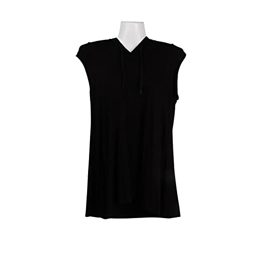 2b47f3e22eb914 LianSan Sleeveless Hoodies for Men Women Active Slim Fit for Work Out  AH3159 Black