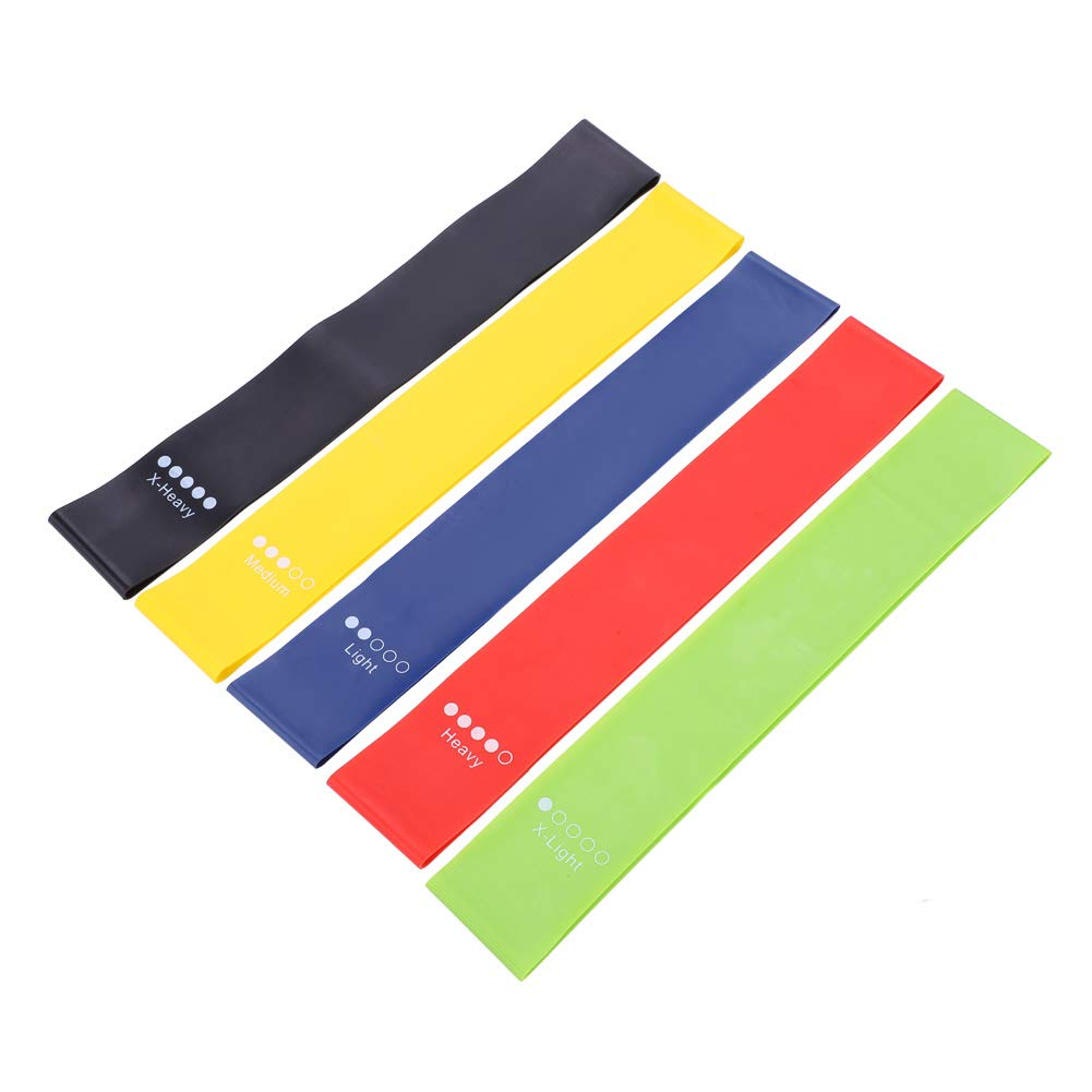 Dioche Resistance Bands Exercise Loops, Super Elastic Yoga Resistance Loop Bands for Indoor Outdoor Sports, Gym, Fitness, Training (5 Pcs)