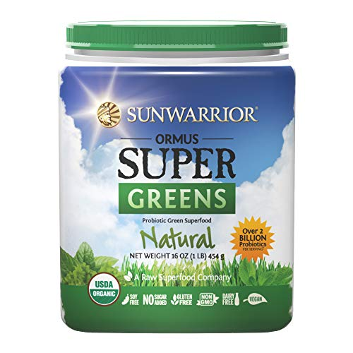 Sunwarrior - Ormus Supergreens, Powerful Vegan Greens with Trace Minerals, Organic, Gluten Free, Non-GMO, Natural, 90 Servings (16 oz.) -