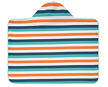 Lässig 1433001803Baby Hooded Towel Toalla con capucha azul Blue Whale Talla:0-24 Monate Laessig GmbH 1433002410
