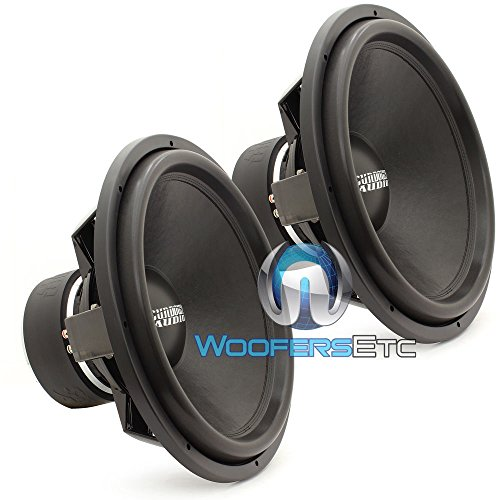 Pair of Sundown Audio SA-18 REV3 D4 18″ 750 Watts RMS Each Dual 4-Ohm Subwoofers