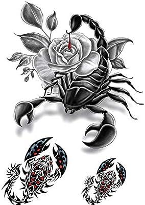 Skorpion Tatuajes de rosas para hombre, tatuajes falsos Th804 ...