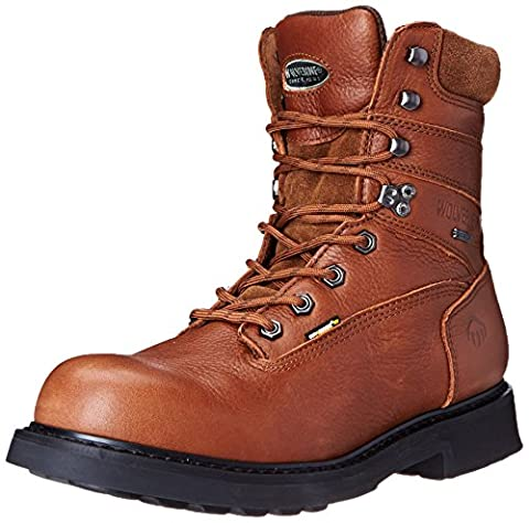 Wolverine Men's Goretex 8 Inch Dura Welt Work Boot, Brown, 12 M US - Gore Tex Slip