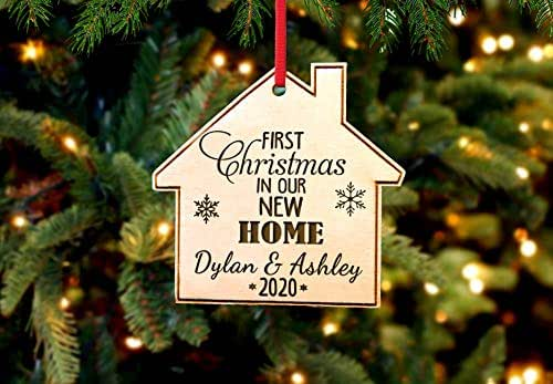 Amazon Com First Home Names Personalized Christmas Ornament Handmade