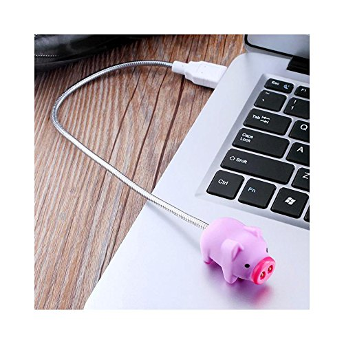Cute LED USB Light, Adorable Pig USB Mini LED Light - Perfect for Laptops & Computers! by RED SHIELD (Image #2)