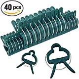 40pc Gentle Plant & Flower Clips for Supporting Stems