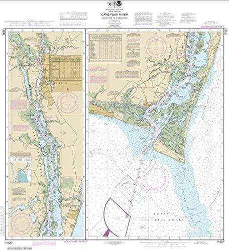 NOAA Chart 11537-Cape Fear River Cape Fear to Wilmington-WATERPROOF