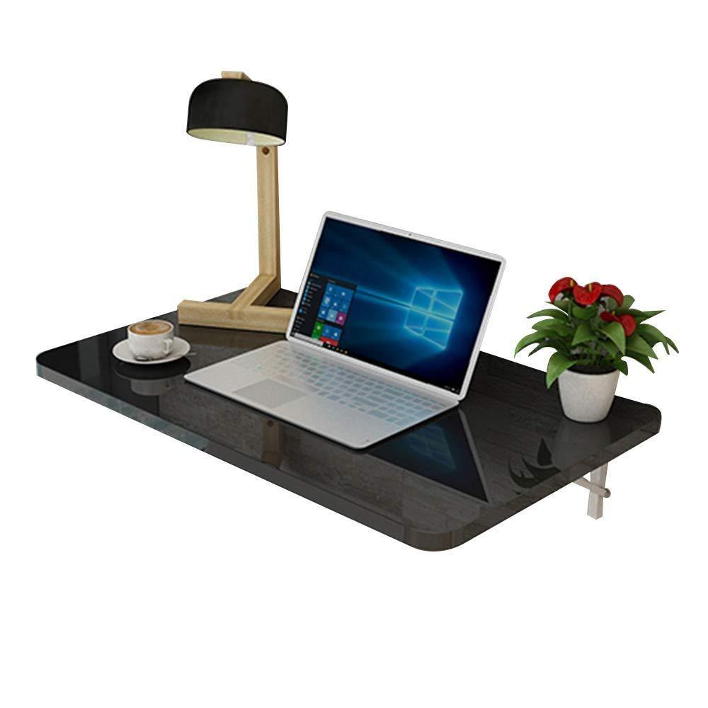 CZZ Tavolo da Decking in Legno, Tavolo da Pieghevole da Tavolo per Tavolo Dipinto ad Alta Temperatura da Tavolo per Uso Domestico, 12 Dimensioni,Nero,50  30cm