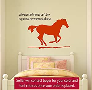 Horse wall decal girls room quote decal wall words decal - Wall decor for teenage girl bedroom ...
