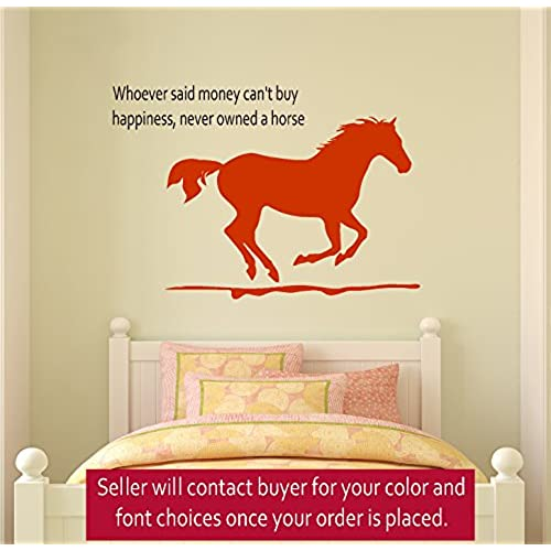 Beau Horse Wall Decal, Girls Room Quote Decal, Wall Words Decal, Teen Bedroom  Decal, Dorm Room Decor, 23 X 33 Inches