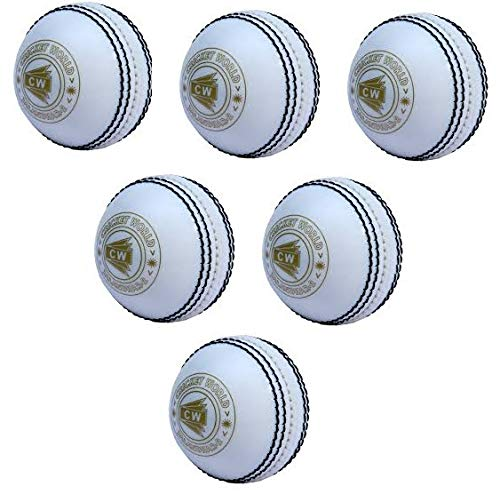 CW Super Stylish Heavy Poly Soft Incredible Standard Size Spin Cricket Ball for Practice/Training/Matches  White    Pack of 6